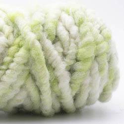 Kremke Soul Wool Rugby Rug Wool dyed Kräftiggrün-Natur
