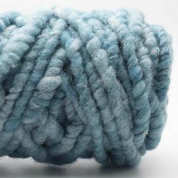Kremke Soul Wool Rugby Rug Wool dyed Türkismeliert