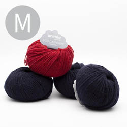 Kremke Soul Wool Strickset Pullover StepUp Nachtblau Kirsche