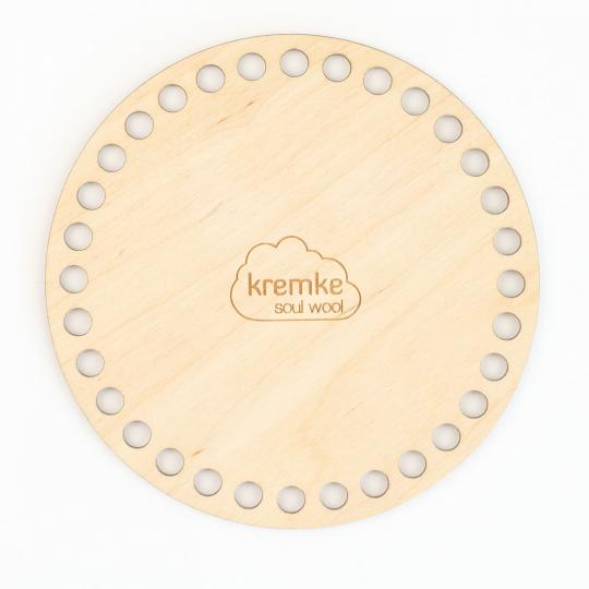 Kremke Soul Wool Wooden bottom for crocheting containers S-15cm