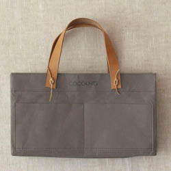 CocoKnits Kraft Caddy including Leather Handles Grey