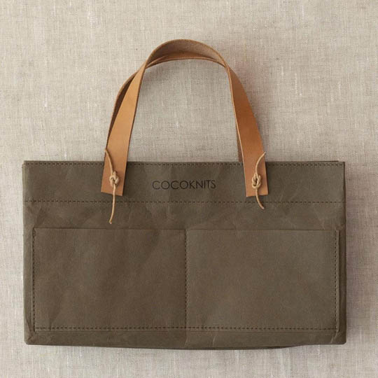 CocoKnits Kraft Caddy including Leather Handles