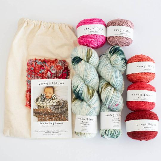 Cowgirl Blues Beehive Blanket Kit Red and Pink