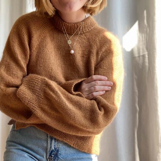 Kremke Soul Wool Knit Kit Sweater Semilla by Sharins Caramel