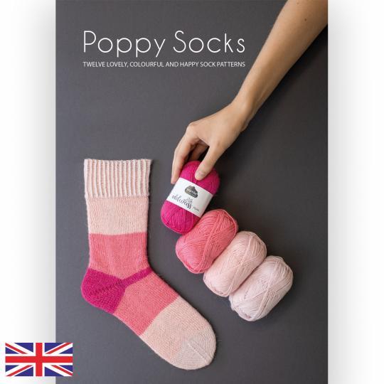 Kremke Soul Wool Pattern booklet Poppy Socks English B2C