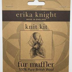 Erika Knight Pattern sleeves Fur Muffler ENG