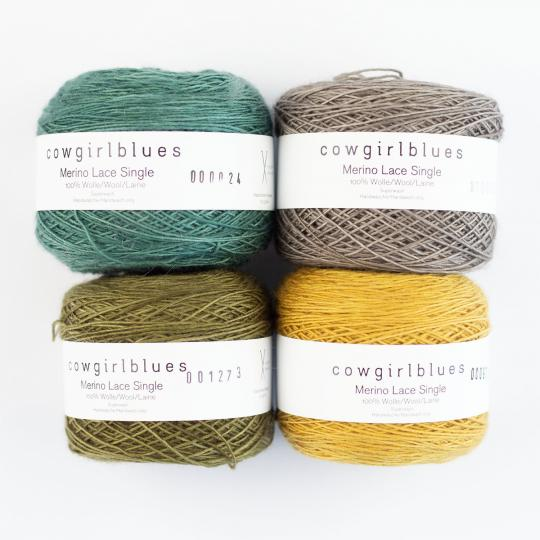 Cowgirl Blues Merino Single Lace solids  Natural